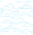 Clouds seamless pattern hand-drawn vector image