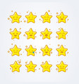 collection of difference emoticon icon of stars vector image