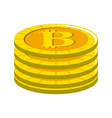 digital bitcoin currency and electronic financial vector image