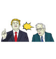 donald trump and bernie sanders cartoon vector image vector image