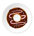 donut icon flat style vector image vector image