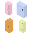 Fridge isometric vector image vector image