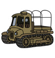 Funny old artillery tractor vector image vector image
