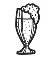 german beer glass icon hand drawn style vector image