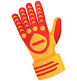 goalkeeper protection gloves vector image vector image