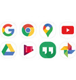 google icons vector image vector image