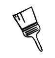 grayscale paint brush equipment to industrial vector image