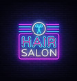 hair salon sign design template hairdress vector image vector image