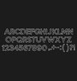handwritten brush script letters on chalkboard vector image vector image