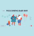 happy people celebration soon baby birthday vector image