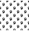 head with puzzle pattern vector image vector image