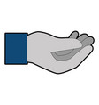 human hand catching icon vector image vector image