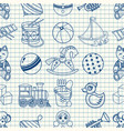 kid toy seamless pattern vector image vector image