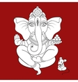 Lord Ganesha Hand drawn vector image vector image