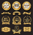 luxury white labels collection 8 vector image vector image