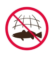 No fishing sign vector image