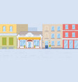 pharmacy drug store building front view old house vector image vector image