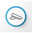 pilot hat icon symbol premium quality isolated vector image