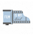 print with photographic film cassette icon film vector image vector image