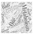 Quick Tips to Boost Your Metabolism Word Cloud vector image vector image
