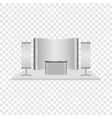 reception desk mockup realistic style vector image vector image