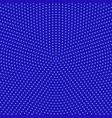 retro blue halftone circle pattern background vector image vector image