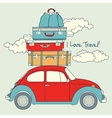 Retro Car Loaded For a Traveling vector image vector image
