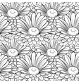 seamless background with black and white flowers vector image vector image