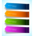 Set of colorful tag vector image