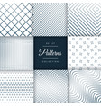 set of line pattern background vector image vector image
