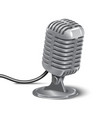 silver studio mic 3d realisic vector image