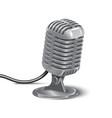 silver studio mic 3d realistic vector image