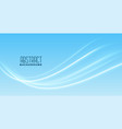 smooth wave design on blue background vector image vector image