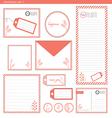 stationery set 1 pink stripe vector image