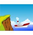 Steamship beside coast vector image
