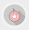 target with an arrow icon flat vector image vector image