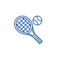 tennis racket line icon concept tennis racket vector image vector image