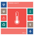 thermometer icon symbol elements for your design vector image