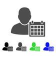 user schedule calendar flat icon vector image vector image