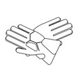 winter gloves equipment black and white vector image vector image
