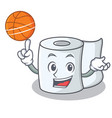 with basketball tissue character cartoon style vector image