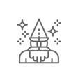 wizard magus magician thaumaturge line icon vector image vector image