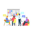 worker character in office animal teamwork vector image