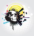 Abstract skull art vector image