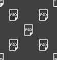 PSD Icon sign Seamless pattern on a gray vector image