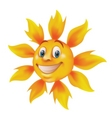 smiling cartoon sun vector image
