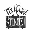 suitcase travel symbol and some vector image