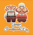 abstract cartoon grandparents day background with vector image vector image