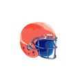 American Football Helmet WPA vector image vector image