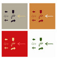 arrows collection with elegant style and black vector image